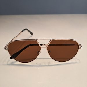 Sunglasses aviator style gold brown / tan